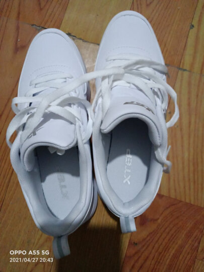 特步女鞋运动鞋女2020秋冬季新款跑步鞋女士慢跑鞋休闲学生旅游鞋 9672 兰红9207 37 晒单图