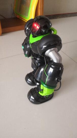 宝贝星(BBS)早教智能机器人玩具 儿童玩具男孩编程遥控机器人机械战警益智早教机 35CM 机械战警(经典黑色款 可发射导弹) 晒单图