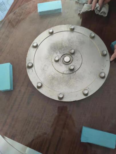 雕图腾 酒店餐桌转盘钢化玻璃圆桌转盘连体圆形转盘底座大桌面旋转盘 餐桌转盘 金沙 80cm/厚10mm 晒单图