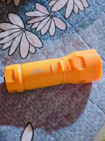 得力(deli)充电式LED可调光手电筒 户外家用手电筒 橙黄色 晒单图