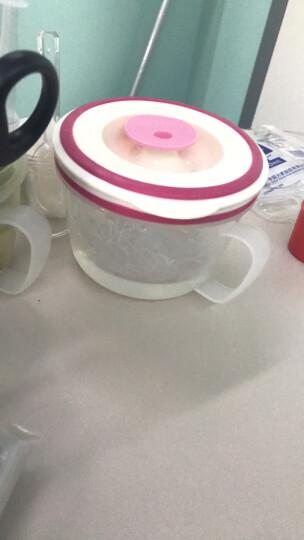 华美日用 带柄可微波炉加热汤碗带盖隔热防烫点心泡面碗粥碗小学生儿童饭盒密封保鲜防溢牛奶杯果汁杯单个 小号450ML红色9690 晒单图