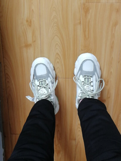 女鞋冬季老爹鞋女休闲百搭加绒保暖运动棉鞋增高小白鞋女 黄兰【加绒款】 37 晒单图