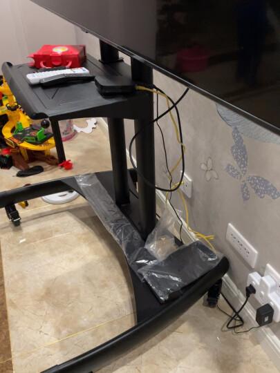 NB TW100(60-100英寸)遥控电动电视支架触摸一体机支架商用视频会议推车可移动升降电视落地挂架皓丽鸿合黑 晒单图