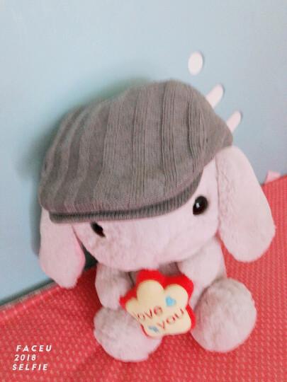 帽子男冬天韩版时尚针织鸭舌帽秋冬贝雷帽画家前进帽 灰色60CM 晒单图