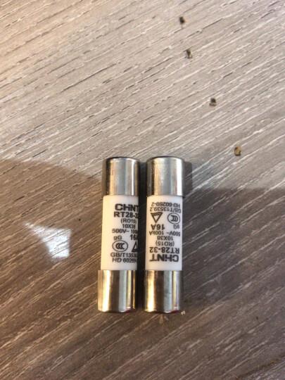 正泰圆筒形熔断器RT28-32芯子保险丝保险管10*38mm 熔断器底座可选 16A 晒单图