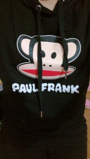大嘴猴(PAUL FRANK) 女装经典LOGO连帽套头卫衣卫裤运动休闲套装两件套 红色 S 晒单图