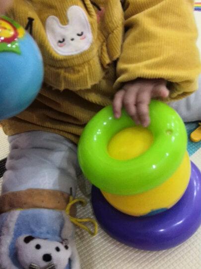 费雪(Fisher Price)彩虹叠叠球 婴幼儿早教玩具套圈(宝宝彩虹叠叠乐层层叠圈 玩具球粉色)F0922 晒单图