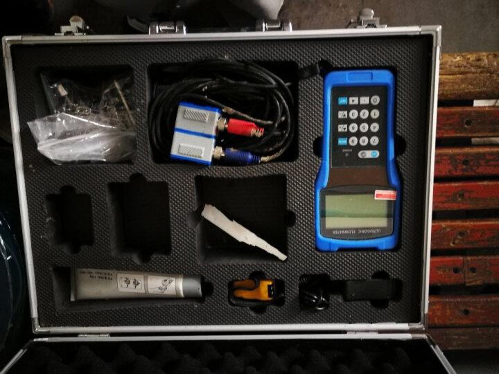 美控(meacon)手持式超声波流量计便携式 水流量计管道外夹外贴式自来水冷却水流量计 (标准型传感器) (小) DN32-100管径 晒单图