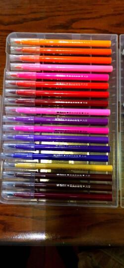 晨光(M&G)36色纤维软头水彩笔圆杆儿童绘画笔 36支/盒ACP95807 晒单图