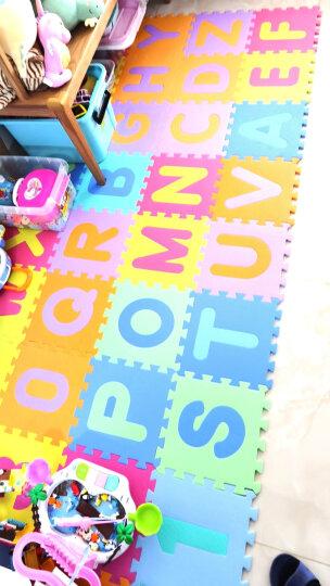 明德环保儿童泡沫地垫 婴儿爬爬垫宝宝爬行垫 拼接垫子 数字字母交通动物水果拼图垫 绿色小素面1片价( 送边条)(9片为一包) 31.5*31.5*1cm 晒单图