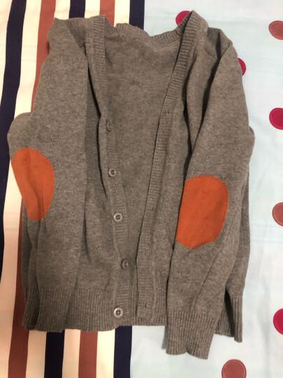 纯一良品童装男童开衫儿童毛衣宝宝针织衫中大童线衣外套男孩春秋装上衣 绿色 150cm 晒单图