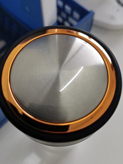 富光 男女士双层玻璃杯 经典简约304不锈钢茶隔水杯子 便携创意泡茶杯320ML雅黑(WFB1013-320) 晒单图