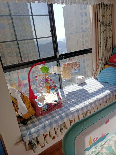 爱婴乐 新生儿婴儿床铃玩具0-1岁宝宝音乐旋转床头摇铃 【粗支架】遥控投影快乐家族蓝配充电 晒单图