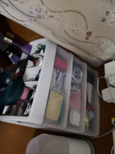 访客(FK)化妆品收纳盒抽屉柜抽屉收纳柜多层可拆卸透明桌面抽屉柜塑料整理柜多功能储物盒收纳箱床头柜 特大号3层(不带格子) 晒单图