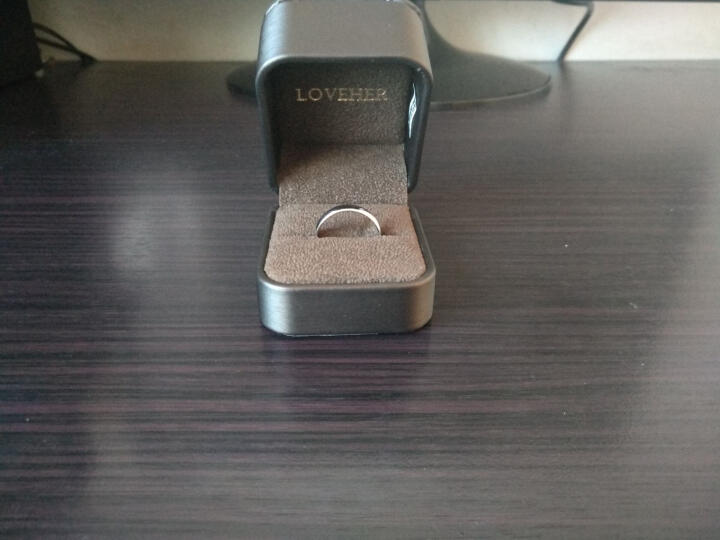 LOVEHER铂金戒指男士对戒白金戒指男女情侣戒指男款 光面光圈对戒 Pt950【单个】 活口约8.32克 晒单图