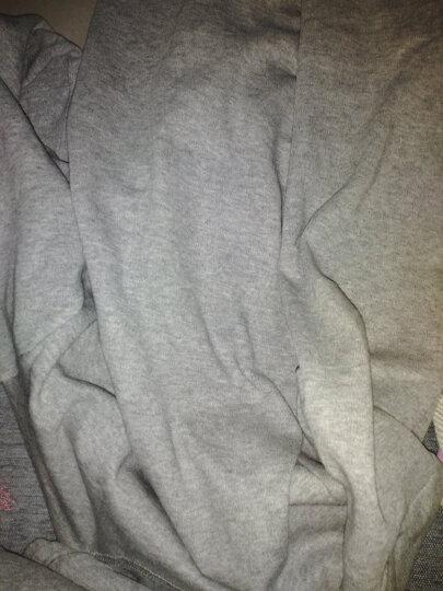 红豆  秋衣秋裤男女纯棉薄款套装 全棉圆领基础打底青少年棉毛衫裤新品中老年保暖内衣. 男款藏青(中领) 175/100(XL) 晒单图