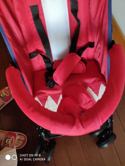 呵宝婴儿推车超轻便折叠可坐躺宝宝伞车儿童推车 鲨鱼款-蓝色(半躺) 晒单图