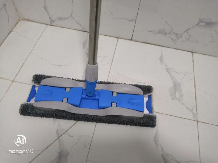 家杰 合金平板拖把 夹毛巾可旋转地拖墩布 轻薄平拖 板面38cm 送原装拖布2块 JJ-PB01 晒单图