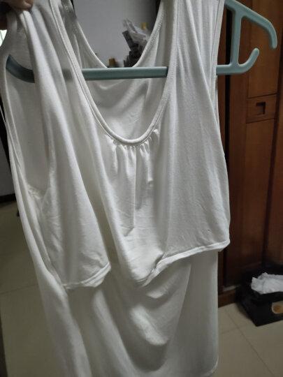 孕妇背心孕妇装月子服 产妇喂奶吊带哺乳背心 莫代尔弹性舒适孕妇打底衫 吊带蓝色 晒单图