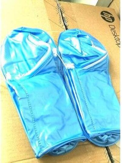 先锋连户外旅游漂流防雨鞋套中高筒男女通用雨靴套徒步骑行加厚底防水防滑雨鞋套 中筒蓝色(43-45码) 晒单图