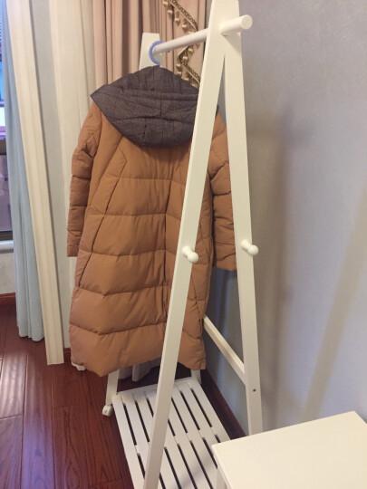 家逸 实木衣帽架 落地移动衣架 卧室挂衣架 新款三角衣架 白色 晒单图