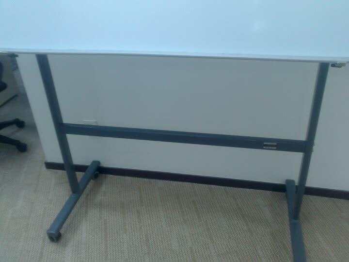 得力(deli)120*57*160cm可移动白板架、通用型白板架(加厚、稳定、双横杠)7880 晒单图