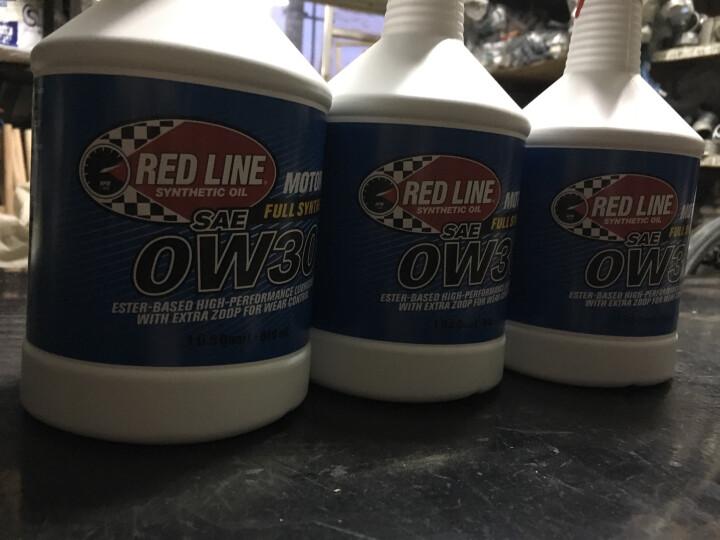 【Redline旗舰店】红线多酯类全合成汽车机油 润滑油 摩托车机20w60 0.946L*2 晒单图