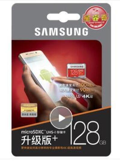 三星(SAMSUNG)tf卡手机内存卡行车记录仪switch游戏机ns存储卡GoPro运动相机SD卡 128g(读100mb/s 写60mb/s) EVO Plus 晒单图