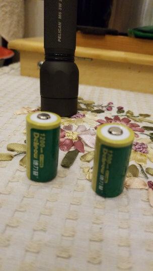 德力普 cr123a电池 CR123A充电锂电池 CR123A充电电池 3V1200毫安 4节Cr123a充电电池 晒单图