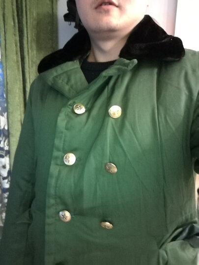 深信(Shen Xin) 军大衣男女冬季保安防寒棉大衣户外加厚加长款内胆可拆卸抓绒 军绿色 均码 晒单图