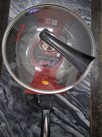 AIONIA 玻璃锅盖韩国不粘锅钢化玻璃盖可立防溢盖锅盖把手 32cm透明色 晒单图