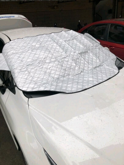 趣行 汽车双层加厚雪档/遮阳挡180x113cm 内置磁扣车载遮阳板车用前挡风玻璃防晒隔热防紫外线窗帘 晒单图