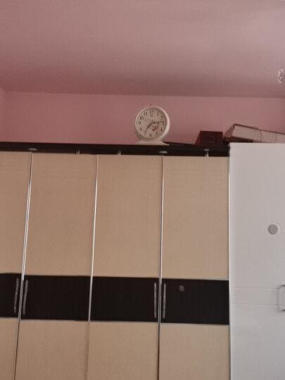 康巴丝(Compas)挂钟古典欧式座钟表复古静音客厅装饰台钟创意卧室床头时钟石英钟 3020数字黑金 晒单图