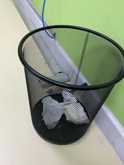 得力(deli)耐用带压圈不锈钢垃圾分类垃圾桶 办公家具经典圆形清洁桶纸篓 办公用品 黑色9199 晒单图