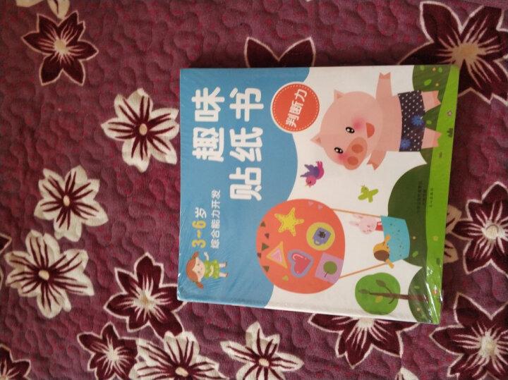 趣味贴纸书 全6册 全脑开发贴纸书 艺术创意(3-6岁) 宝宝动脑贴画 幼儿启蒙 贴纸书 手工书 晒单图