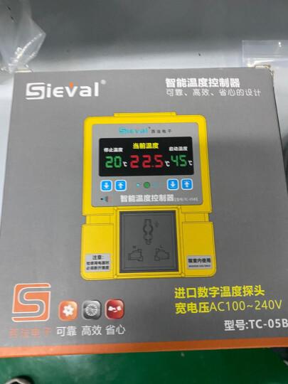 西法TC-05B地暖温控器高精度数显温控仪智能温度控制器大棚温控开关插座配防水探头 TC-05B温控器(配5米探头) 晒单图