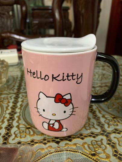 HELLO KITTY(凯蒂猫) 马克杯咖啡杯子办公室 陶瓷杯水杯创意情侣牛奶瓷风早晨奶茶杯 粉色 420 晒单图