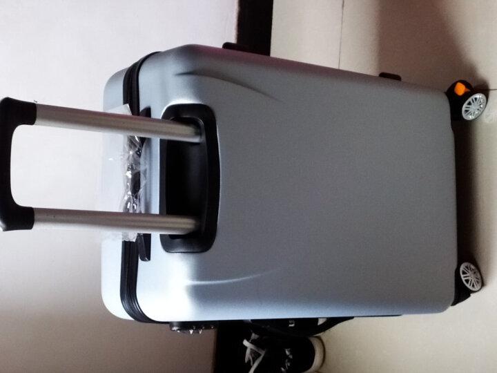 博兿(BOYI)拉杆箱24英寸男女双轴承万向轮旅行箱钻石纹系列行李箱 BY12002银白色 晒单图