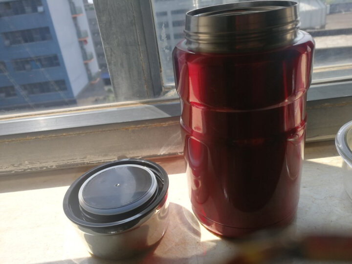 膳魔师(THERMOS) 保温壶大容量1.2L便携户外旅行壶保温瓶SK-2010 深蓝色 晒单图