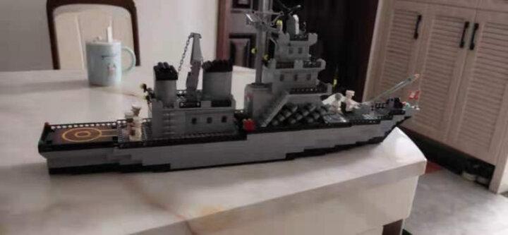 启蒙(ENLIGHTEN)拼装积木兼容乐高儿童玩具拼插军事系列0.7米大型巡洋舰112男孩礼物6-8-12岁 晒单图