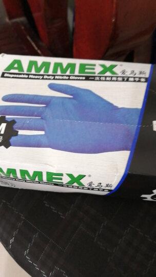 爱马斯(AMMEX) 爱马斯 无粉麻面型一次性耐用丁腈手套食品实验室家务防护橡胶加厚 耐油 绿色增厚5.0g新款-GPFNCHD M(100只/盒) 晒单图