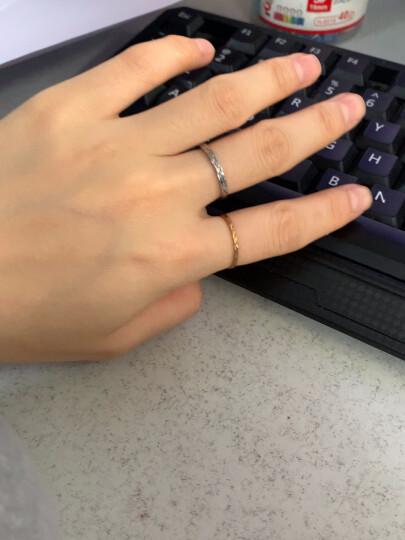 曼蒂娅 925银情侣戒指一对银学生刻字情侣对戒男士女士一对开口光圈戒指送女友礼物 光圈对戒 大小可调! 晒单图