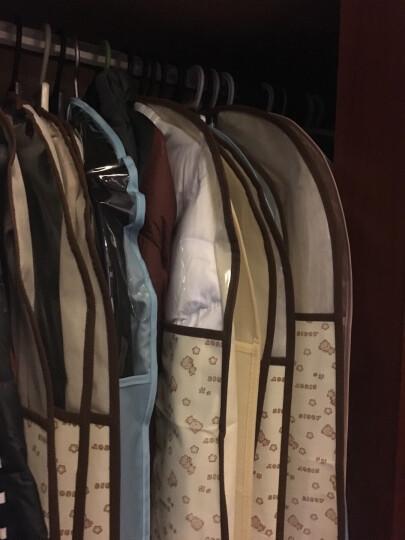 百草园衣服收纳防尘罩挂衣袋西服罩西装套防尘袋衣罩大衣套 米黄色58*90-10枚 晒单图