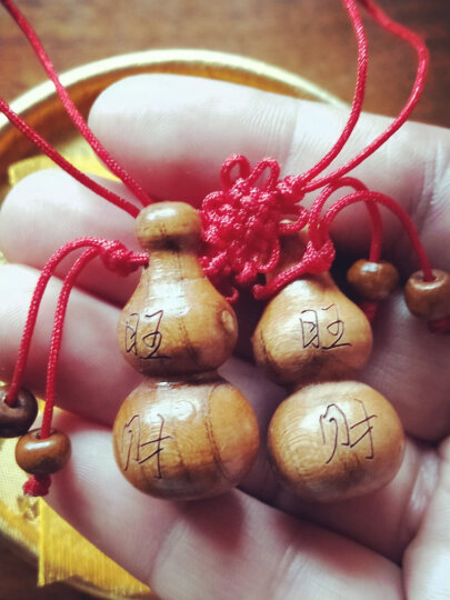 聚缘阁桃木葫芦挂件小葫芦手机链木葫芦家居饰品桃木工艺品 款式五总长约10cm 晒单图