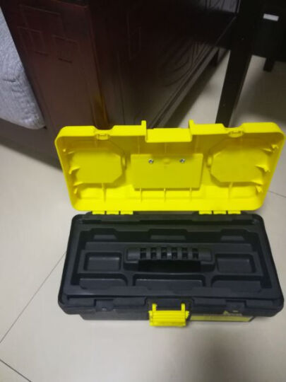 艾瑞泽工具箱收纳箱环保材质家用多功能五金维修盒车载零件箱塑料手提箱 F141 10格零件盒 晒单图