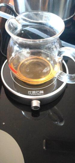 左茗右器 保温底座 加热杯垫 电热恒温茶器 暖杯器 玻璃茶壶茶杯子办公室茶座 功夫茶具配件 恒温55℃圆形黑 晒单图