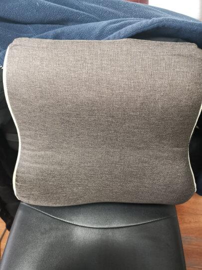 昕科加热护腰靠垫办公室座椅靠背垫靠枕记忆棉透气保暖腰托学生防止驼背 加热腰靠-咖色 晒单图