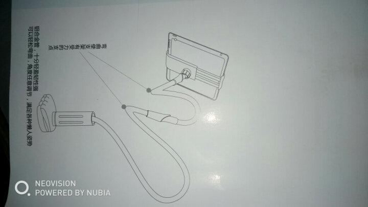 岳迩(YUEER)手机支架 懒人支架 床上床头支架 桌面支架 创意避键 手机通用型 100CM/天蓝色 晒单图