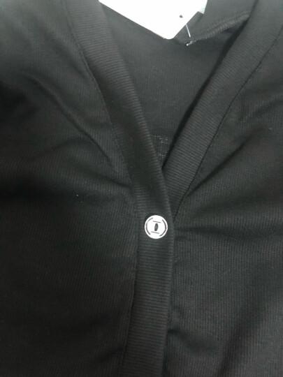 三件套 毛毛逗童装女童套装儿童秋装韩版休闲中长款针织开衫T恤打底裤中大童女小孩衣服班服品牌童装 黑色 120码 建议身高110cm左右穿 晒单图