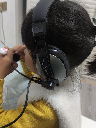 声丽(SENICC)ST-2688 头戴式电脑耳机 带话筒耳麦 双插头 白色 晒单图